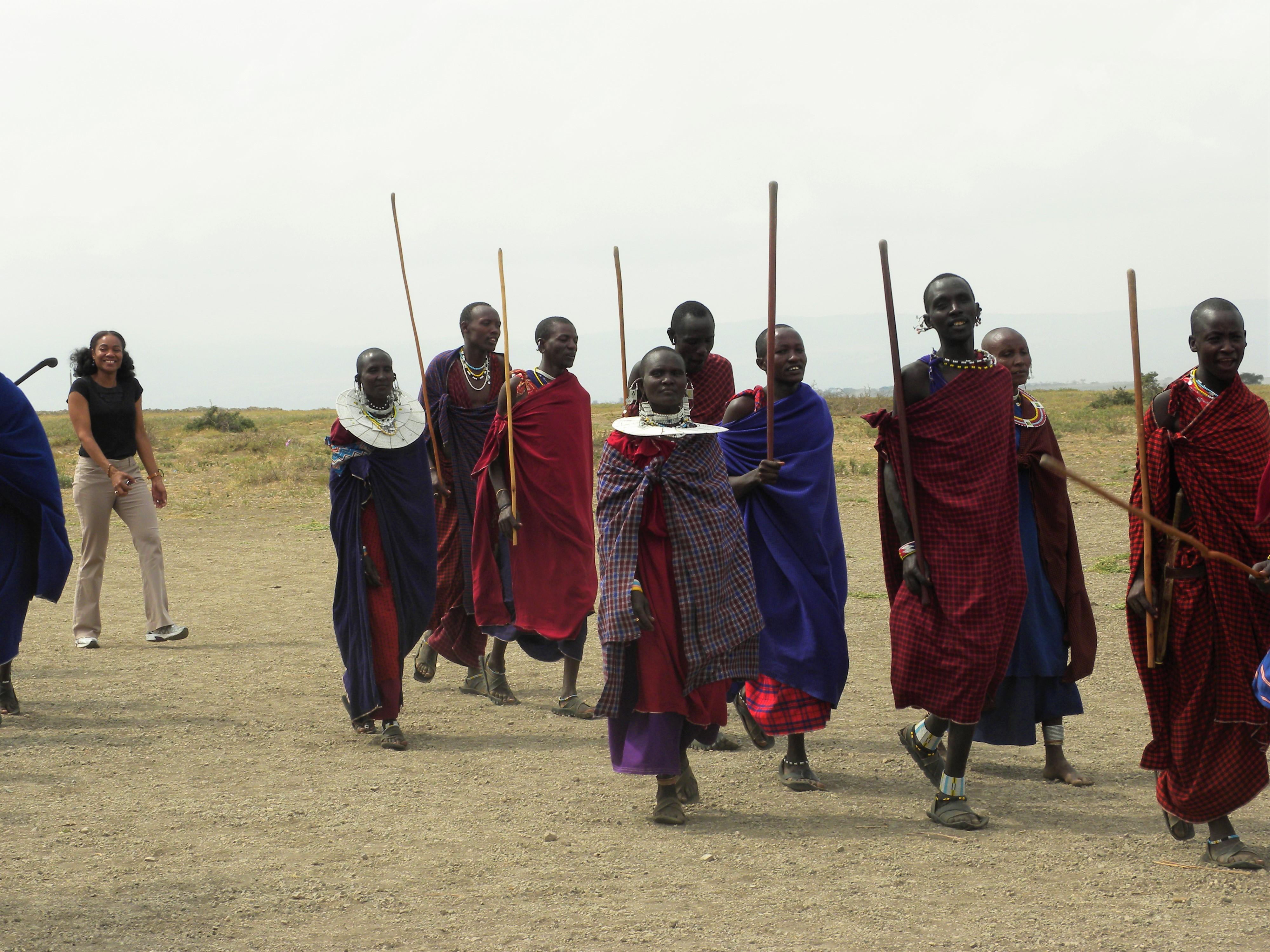Maasai dunce at Ngorongoro